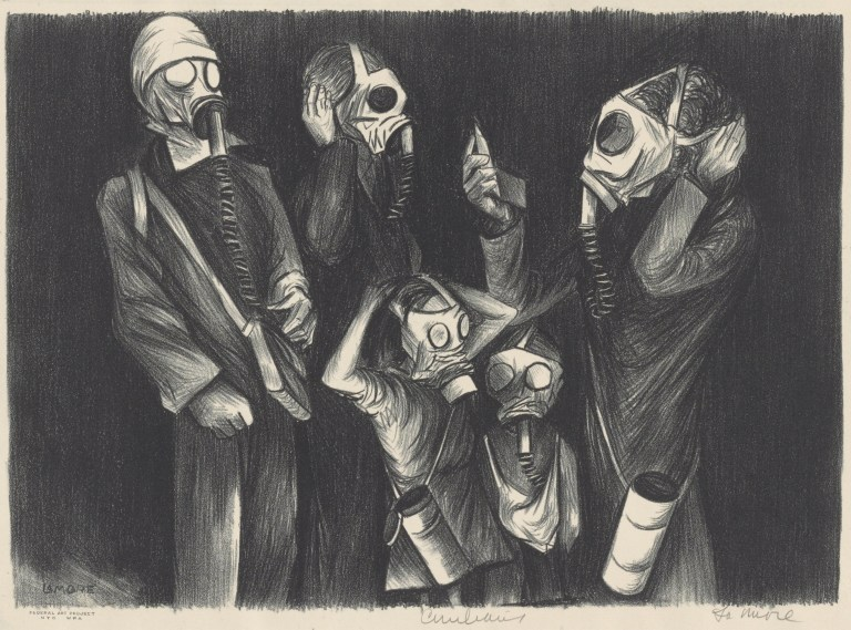 Image of Chet La More, Civilians, ca. 1937. Lithograph. Allocated by the US Government, Commissioned through the New Deal art projects