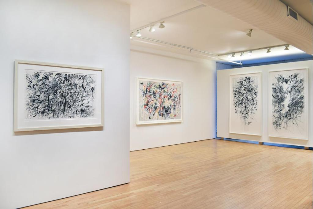 1 Gemini julie_mehretu_-_print_survey_2021_installation_view_1