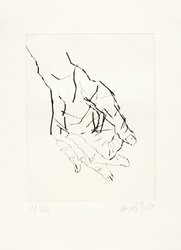 Image of georg Baselitz's Eine Hand ist keine Faust depicting a print of a hand