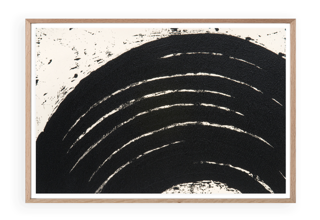 fine art print image by richard serra depicting black curved lines on a white background titled path and edges