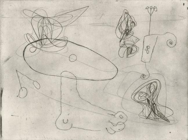 Fine art print by Stanley William Hayter & Joan Miró