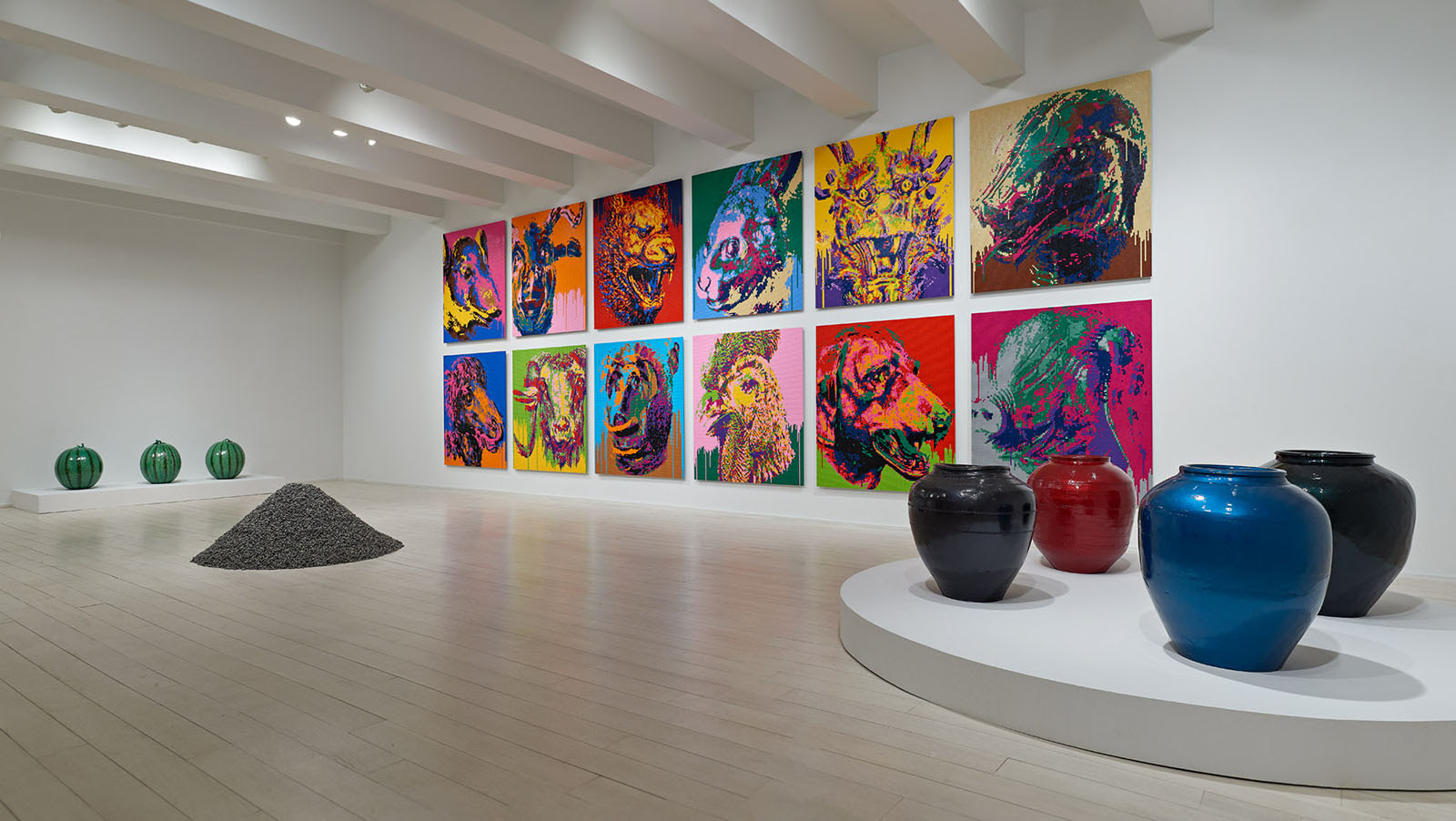 fine art print exhibition installation view of ai weiwei at pace prints