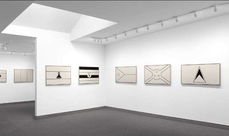 Installation view, Fred Wilson, Untitled (Flags), Krakow Witkin Gallery, April 22 -  June 3, 2021