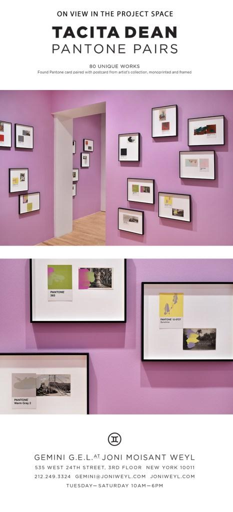 fine art print exhibition installation view of tacita dean's Pantone pairs