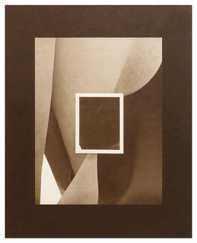 fine art print of brown rectangles by Paul Mpagi Sepuya, Exposure (_1150847), 2020, Salt print, edition of 5, 14 x 11 inches (36 x 28 cm)