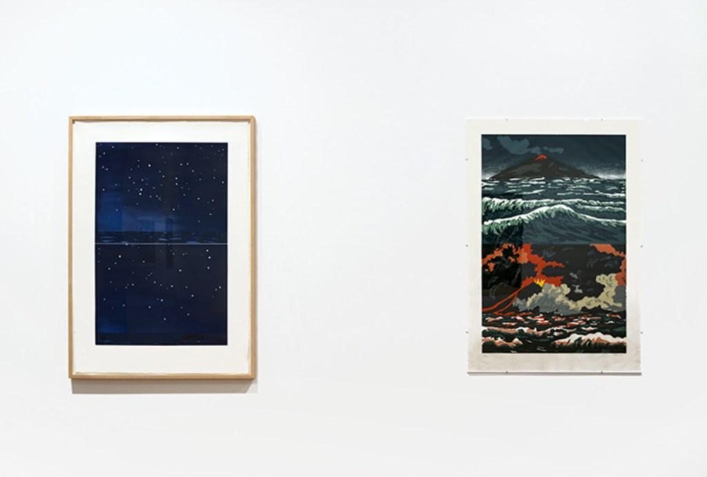 fine art print exhibition installation image of brooke alexander, inc.