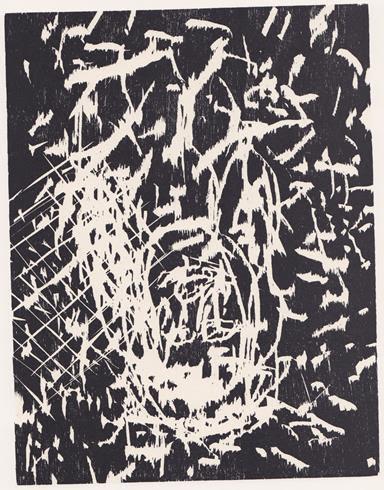 fine art print Georg Baselitz, Dresdner Frau IV. 1989-1990, etching, Edition 15/30, 60,1 x 50,2 on 100 x 70 cm.