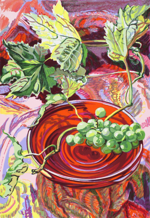 fine art print image of grapes in a bowl by janet fish