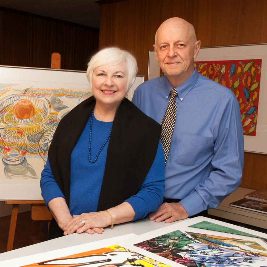 Susan and Norman Stewart amongst several examples in the Stewart & Stewart Archive at their studio in Bloomfield Hills, Michigan. Photo by LaurieTennentStudio.com © 2017