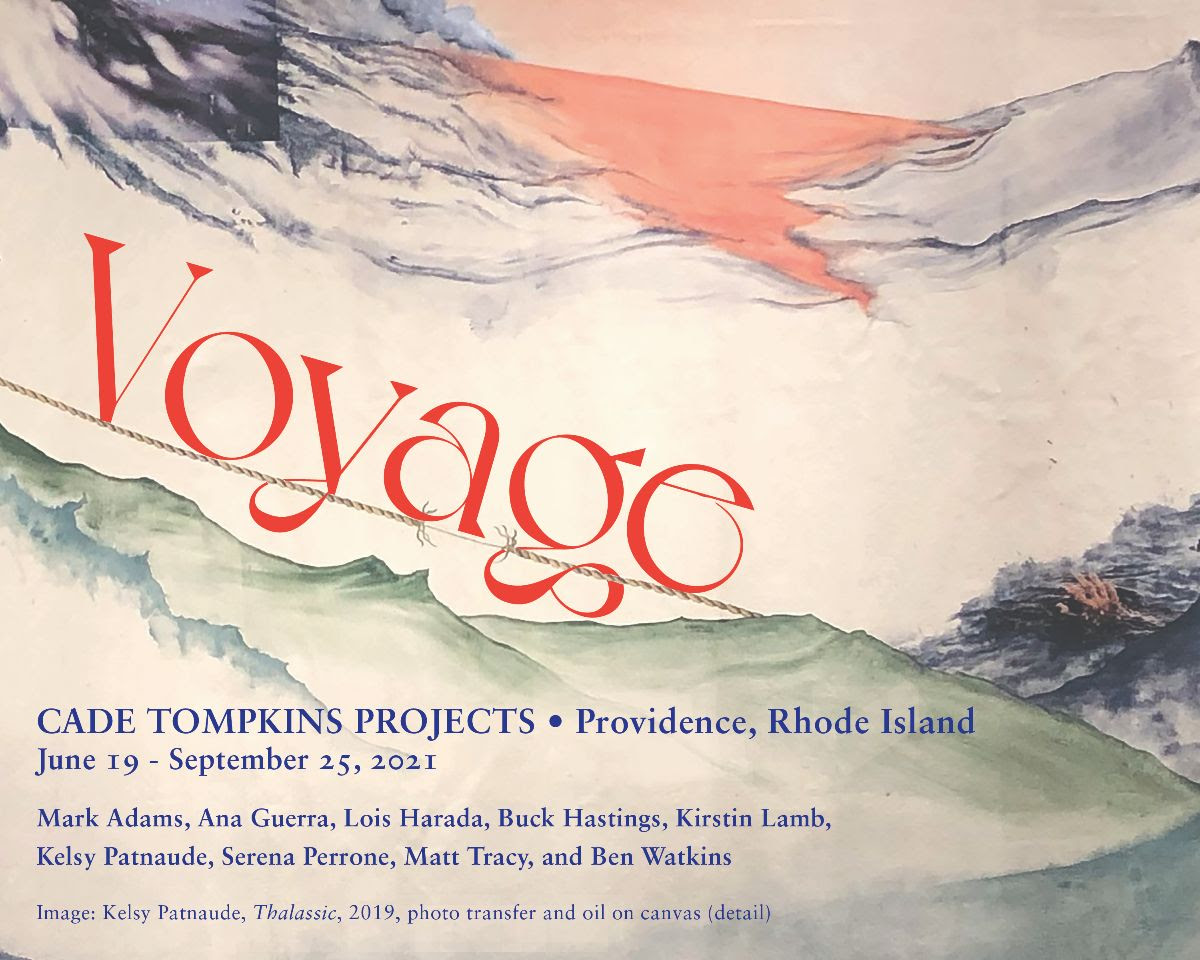 fine art print exhibition announcement for VOYAGE at cade tompkins