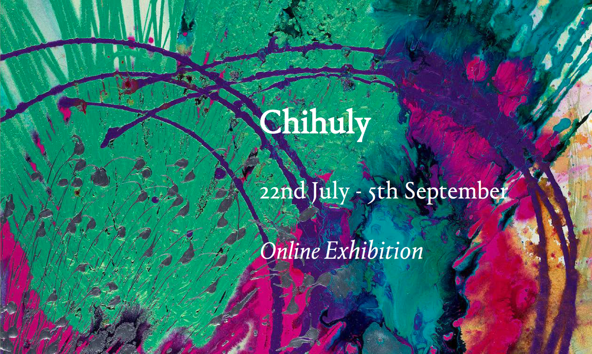 fine art print chihuly exhibition announcement from sims reed