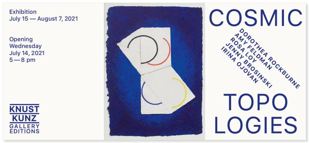 fine art print exhibition announcement of cosmic topologies at knust kunz gallery