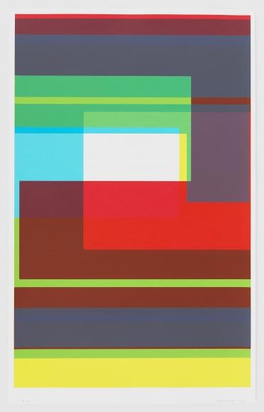 fine art print abstract color boxes geometric pattern kate shephard