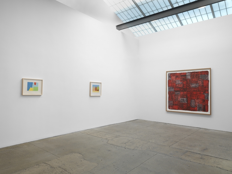 installation view of fine art print exhibition at galerie lelong