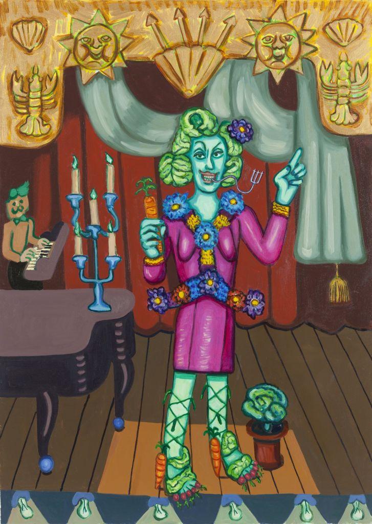 Hannah Barrett Fire Island: Hedda Lettuce, 2015 Oil on canvas, 50 x 36 inches