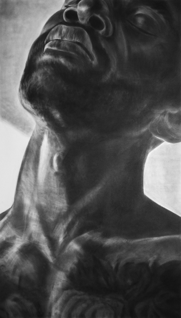John MacConnell Kevin, 2020 Graphite on Rives BFK, 72 x 42 inches.
