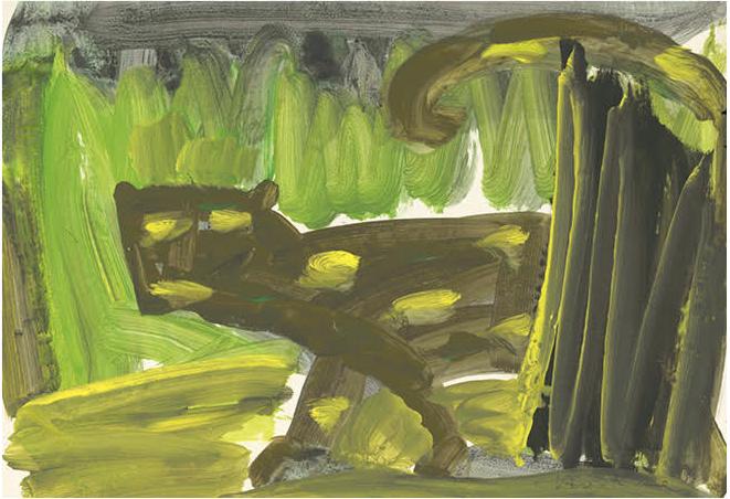 Karl Horst Hödicke, Jaguar, 1983
