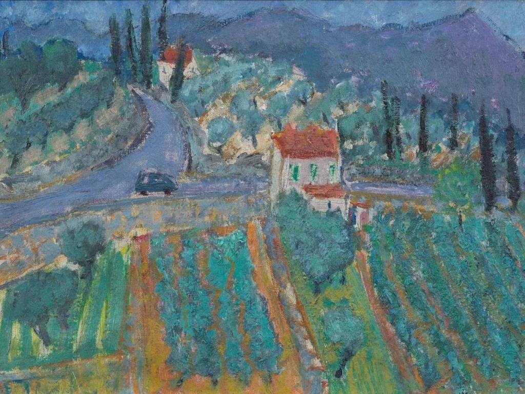 Adrian Ryan Olive Grove, Montauroux 1972 Oil on canvas 30 x 38cm