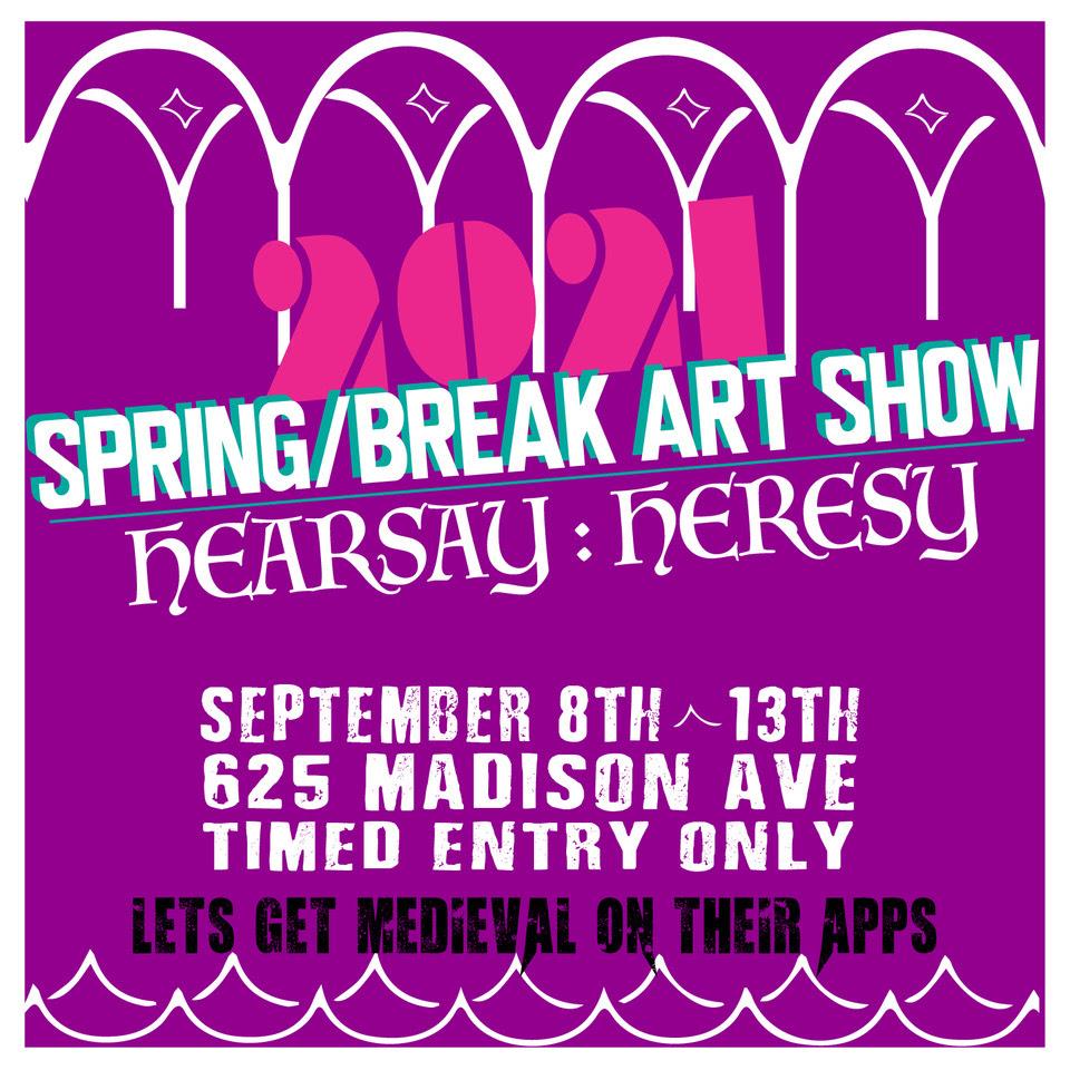 spring/break art show 2021 show poster