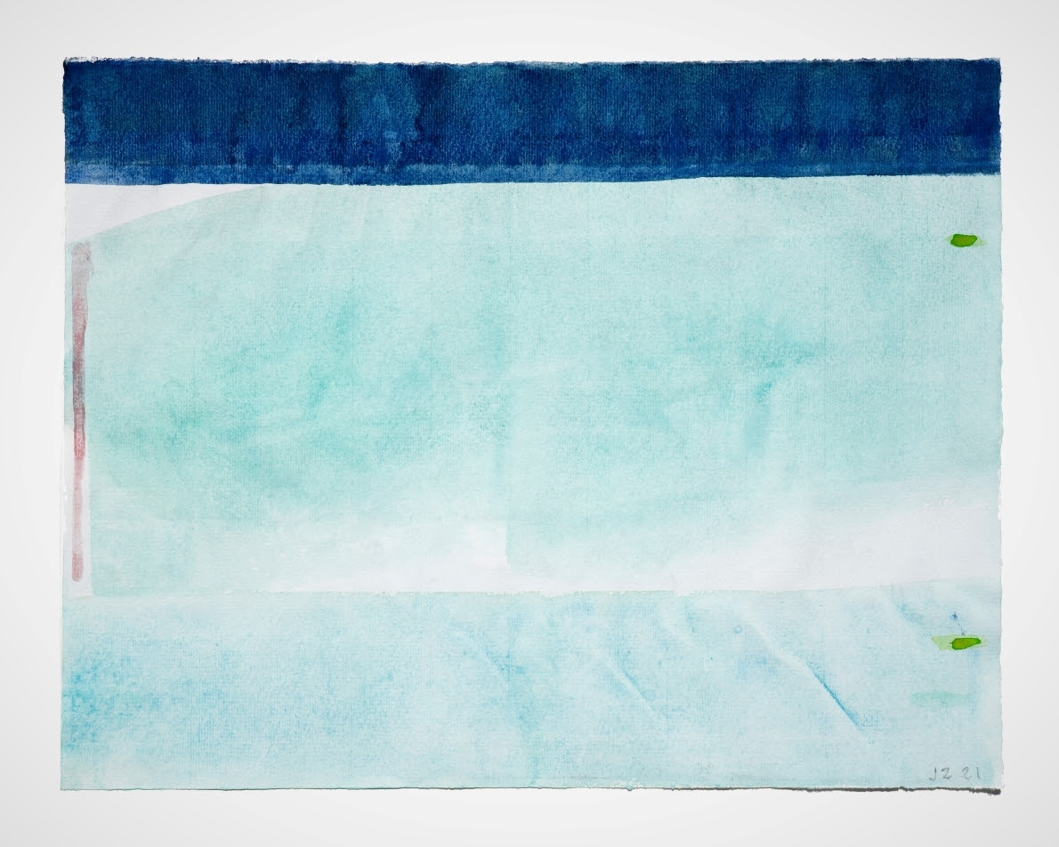 John Zurier April, 2021, watercolor on Ingres paper, 9 3/8 x 12 5/16 inches (24 x 32 cm)