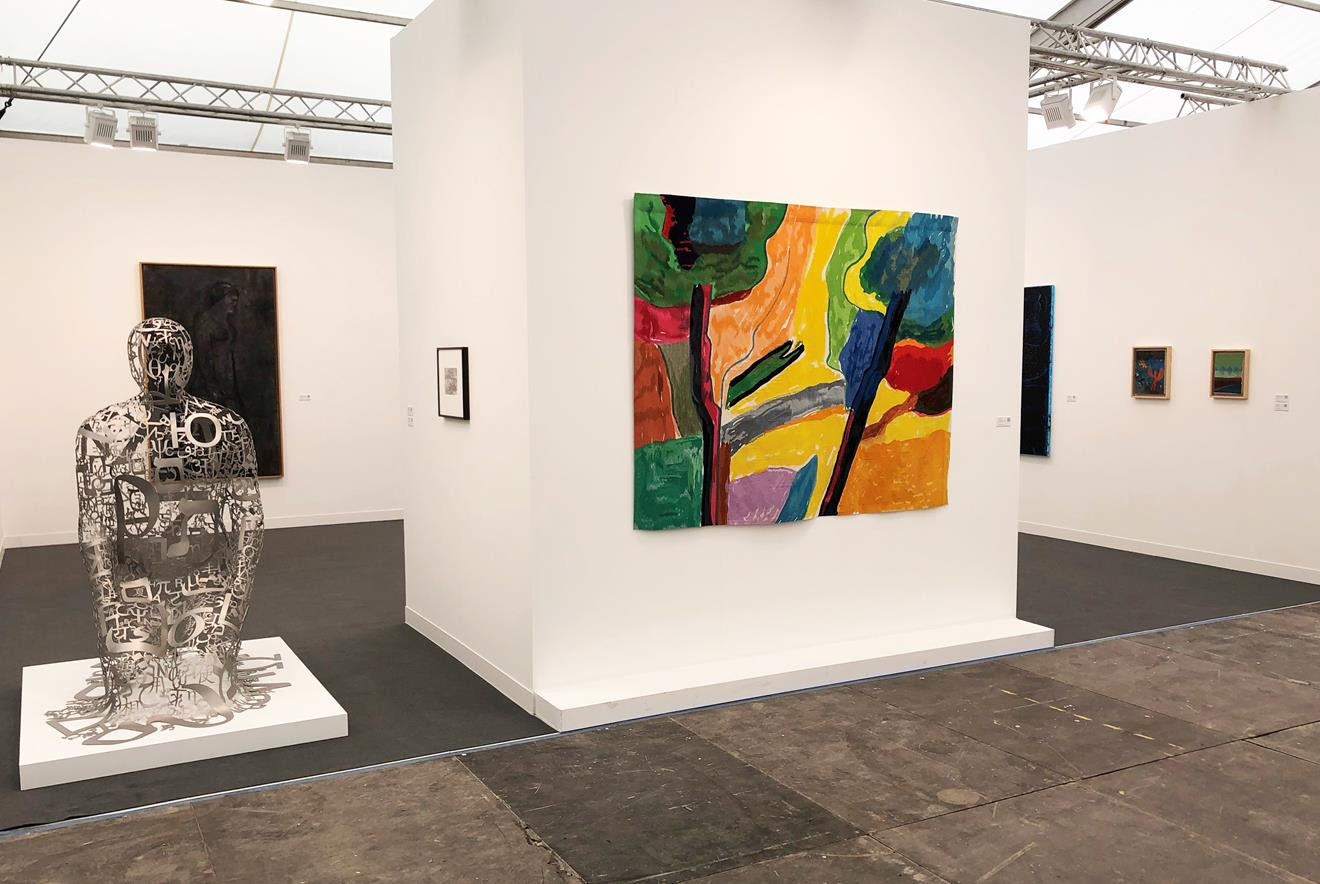Installation view: Galerie Lelong & Co., New York, Stand A03 at Frieze London.